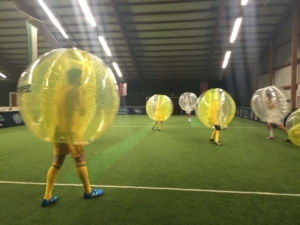 Bubble Football in der Soccerhalle